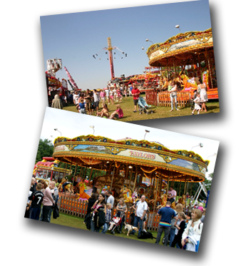 David Taylor's Carousel at The Great American Theme Park, Wavertree, Liverpool and also pictured at the Windermere Air Show